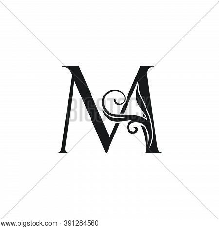 Monogram Luxury Initial Logo Letter M Vector Design Concept Luxury Floral Leaf For Luxuries Business