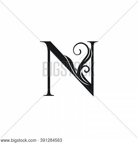 Monogram Luxury Initial Logo Letter N Vector Design Concept Luxury Floral Leaf For Luxuries Business