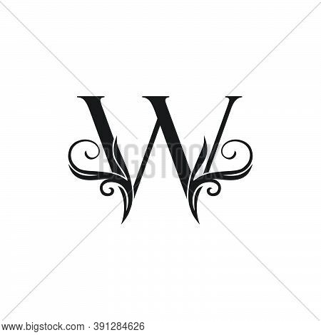Monogram Luxury Initial Logo Letter W Vector Design Concept Luxury Floral Leaf For Luxuries Business