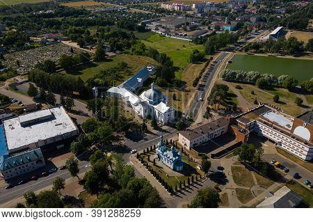 The Church Of Saint Teresa Of Avila Is A Catholic Church In The City Of Shchuchin In Belarus.old Chu