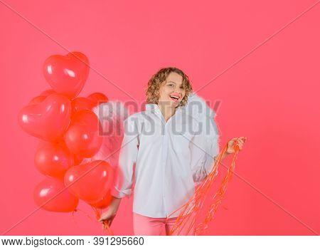 Woman Cupid. Valentines Day Cupid. Cupid Angel Woman With Balloons. Cupid In Valentine Day. Valentin