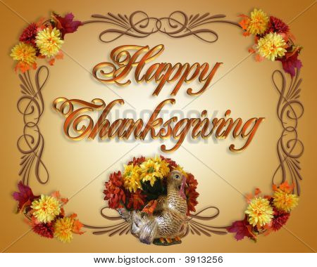 Happy Thanksgiving Card Turkey