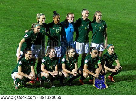Kyiv, Ukraine - October 23, 2020: Uefa Womens Euro 2022 Qualifying Game Ukraine V Ireland At Obolon
