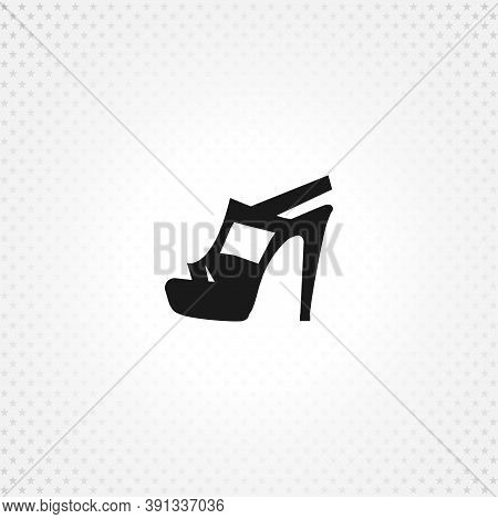 Women Heels Isolated Solid Vector Icon On White Background