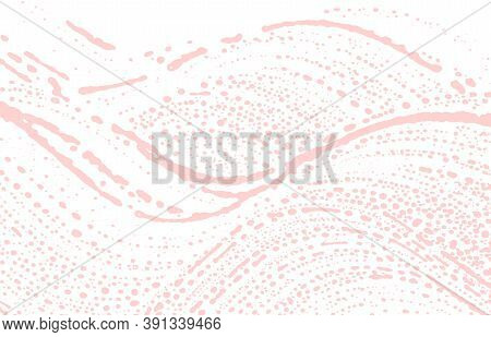 Grunge Texture. Distress Pink Rough Trace. Favorable Background. Noise Dirty Grunge Texture. Pretty