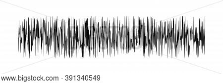 Sound Signal Waveform, Audio Wave Line Isolated On White , Sound Wave For Voice Recording Music, Mus