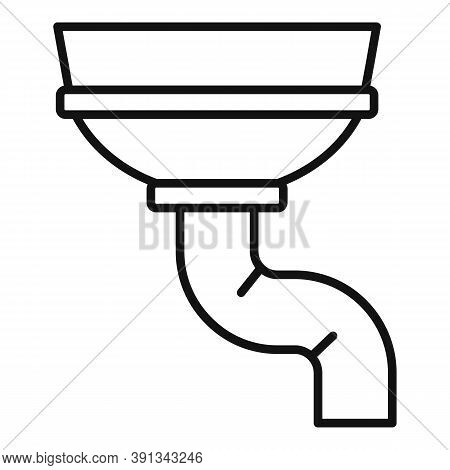 Concrete Gutter Icon. Outline Concrete Gutter Vector Icon For Web Design Isolated On White Backgroun