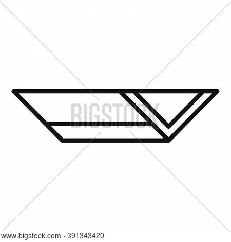 Rooftop Gutter Icon. Outline Rooftop Gutter Vector Icon For Web Design Isolated On White Background