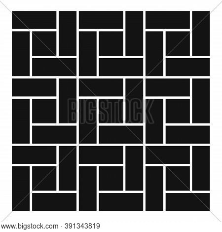Paving Deck Icon. Simple Illustration Of Paving Deck Vector Icon For Web Design Isolated On White Ba