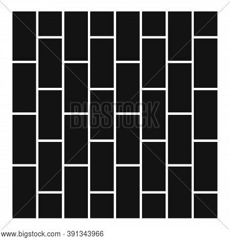 Brick Street Paving Icon. Simple Illustration Of Brick Street Paving Vector Icon For Web Design Isol