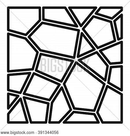 Paving Floor Icon. Outline Paving Floor Vector Icon For Web Design Isolated On White Background