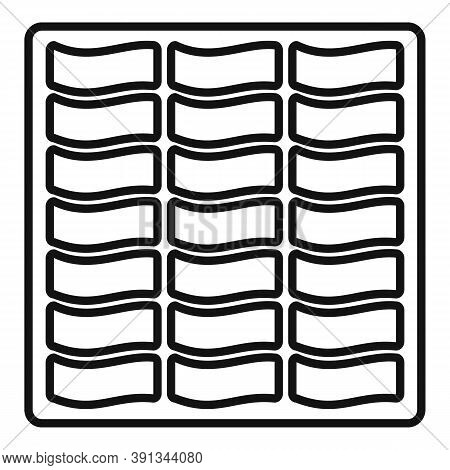 Paving Material Icon. Outline Paving Material Vector Icon For Web Design Isolated On White Backgroun