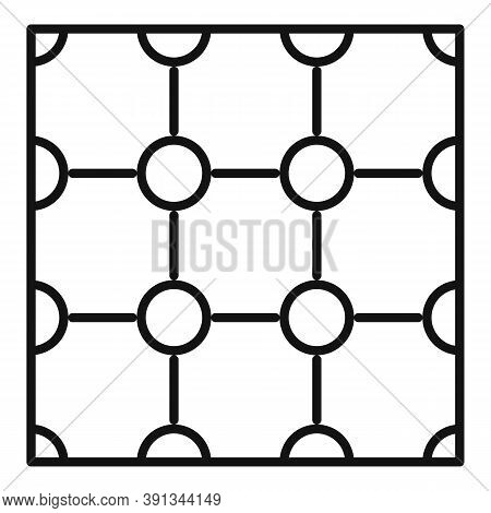 Paving Flooring Icon. Outline Paving Flooring Vector Icon For Web Design Isolated On White Backgroun
