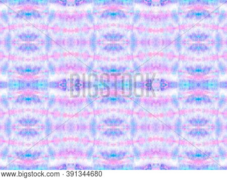 Seamless Aquarelle Pattern. Watercolor Painted Material Design. Blue, Pink, Purple And White. Aquare