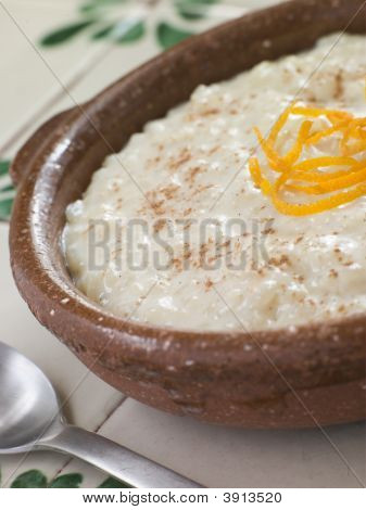 Orange and Cinnamon Rice Pudding poster