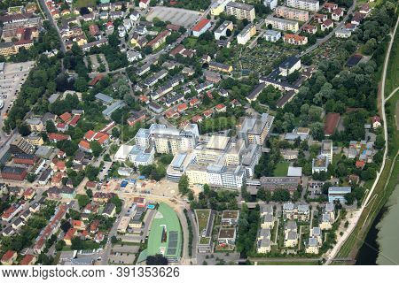 Rosenheim In Bavaria In Germany Seen From Above 5.7.2020