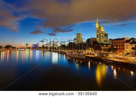 Frankfurt am Mine at night, Germany