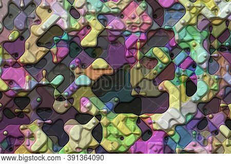 3D Abstract Geometric- Artistic Style. Illustration Rendering