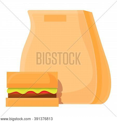 Lunch Package Icon. Cartoon Of Lunch Package Vector Icon For Web Design Isolated On White Background