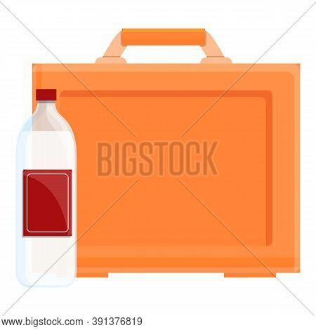 Soda Drink Lunch Box Icon. Cartoon Of Soda Drink Lunch Box Vector Icon For Web Design Isolated On Wh