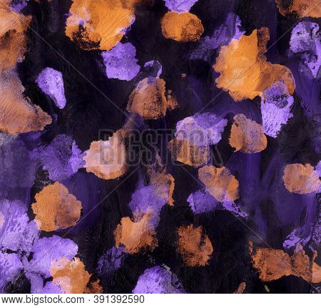 Abstract Colorful Background With Hand-painted Texture. Watercolor Painting With Splashes, Drops Of