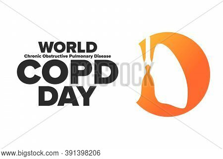World Copd Day. Chronic Obstructive Pulmonary Disease. Third Wednesday Of November. Holiday Concept.