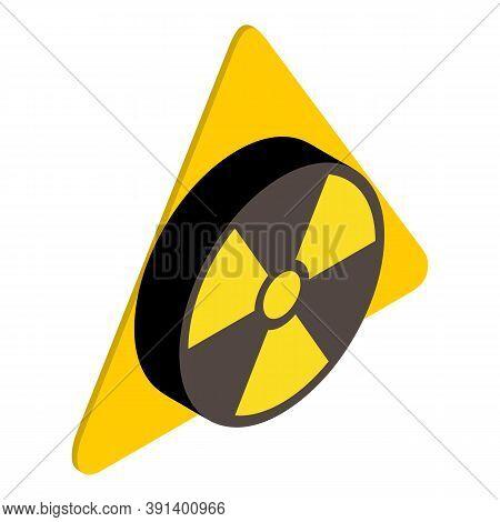 Radiation Contamination Icon. Isometric Illustration Of Radiation Contamination Vector Icon For Web