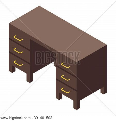 Cozy Home Desktop Icon. Isometric Of Cozy Home Desktop Vector Icon For Web Design Isolated On White