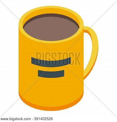 Office Tea Mug Icon. Isometric Of Office Tea Mug Vector Icon For Web Design Isolated On White Backgr