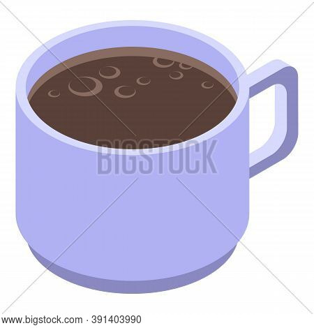 Arabica Coffee Cup Icon. Isometric Of Arabica Coffee Cup Vector Icon For Web Design Isolated On Whit
