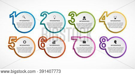 Abstract Options Infographics Template With Numbers Option. Infographics For Business Presentations
