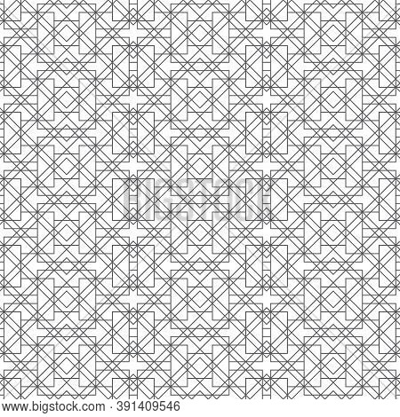 Seamless Pattern. Modern Stylish Texture. Regularly Repeating Geometrical Shapes, Zigzag Forms, Rhom