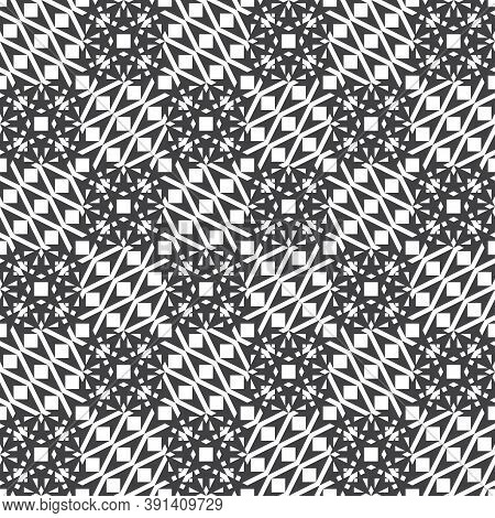 Seamless Pattern. Modern Stylish Geometrical Texture. Regularly Repeating Curved Polygonal Shapes Wi