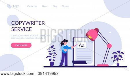 Copywriting Job, Home Based Copywriter, Freelance Copywriting Concept. Copywriter Writting Creative
