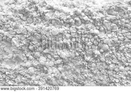 White Polystyrene Foam, Styrofoam Texture Background, Close Up