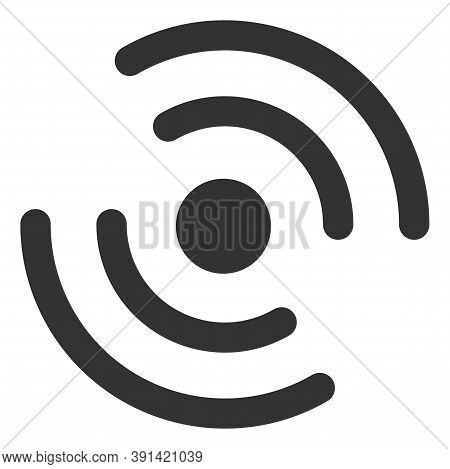 Propeller Rotation Icon On A White Background. Isolated Propeller Rotation Symbol With Flat Style.