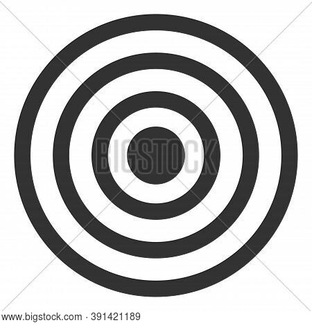 Concentric Circles Icon On A White Background. Isolated Concentric Circles Symbol With Flat Style.
