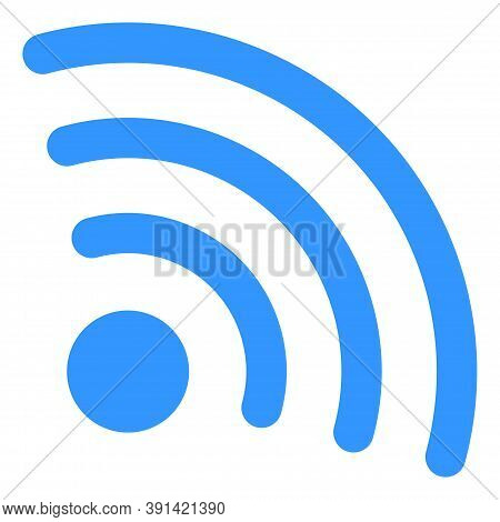 Internet Source Icon On A White Background. Isolated Internet Source Symbol With Flat Style.