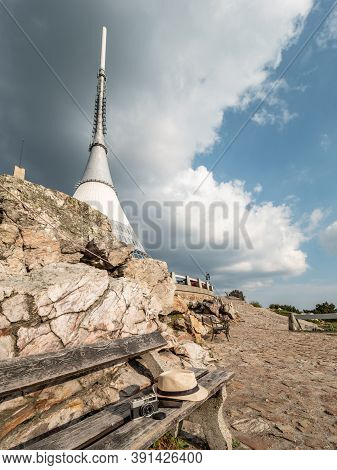 Photo Walk With Analog Vitage Camera To Popular Jested Mountain. Jested. 16th Of September 2020, Cze