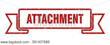 Attachment Grunge Vintage Retro Band. Attachment Ribbon