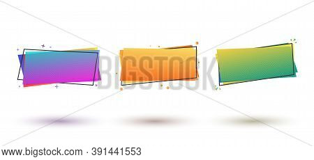 Abstract Banner With Gradient. Dynamical Geometric Forms, Shapes. Template For Design Or Advertiseme