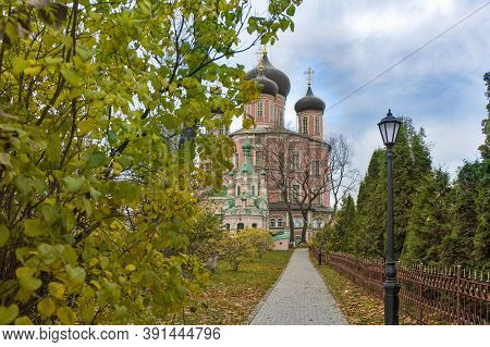 Moscow, Russia - 20 October 2020, The Big Cathedral Of The Theotokos Of The Don (our Lady Of The Don