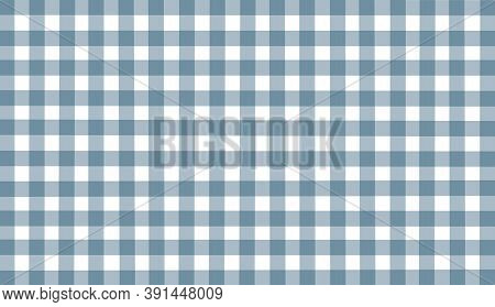 Gray White Blue Checkered Background. Space For Graphic Design And Creative Ideas. Checkered Texture