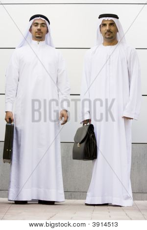 Middle Eastern Business Men Facing Camera