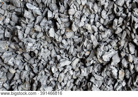Vertical Wall Made Of Finely Packed Anthracite Coal.