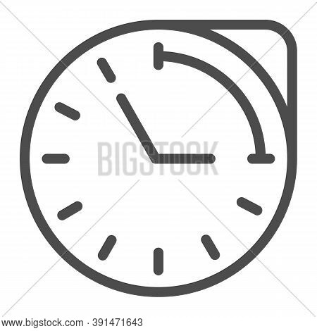 Clock With Hour Duration Line Icon, Medical Concept, Medication Time Schedule Sign On White Backgrou