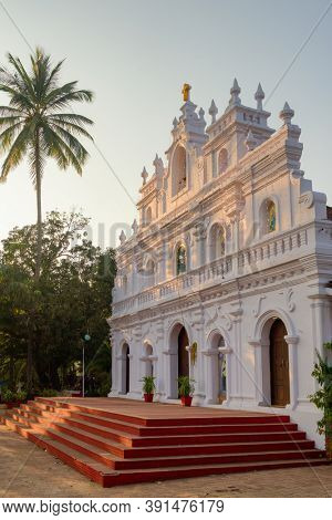 Church of Our Lady of Mount Carmel in Arambol, Goa, India