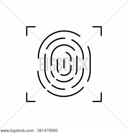 Fingerprint Scan Single Isolated Icon With Line Or Outline Style