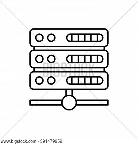 Server Database Computer Single Isolated Icon With Line Or Outline Style