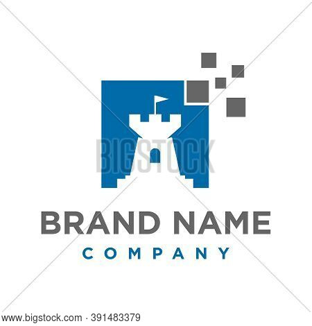 Technology Fort Logo Design Your Company Or Brand